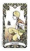 Four of Swords Tarot card in Magic Manga deck