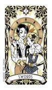 Seven of Swords Tarot card in Magic Manga Tarot deck