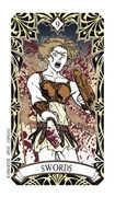 Nine of Swords Tarot card in Magic Manga deck