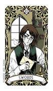 Ten of Swords Tarot card in Magic Manga deck