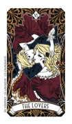 The Lovers Tarot card in Magic Manga Tarot deck