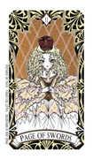 Page of Swords Tarot card in Magic Manga deck