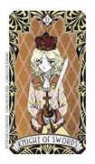 Knight of Swords Tarot card in Magic Manga deck