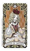Queen of Swords Tarot card in Magic Manga deck