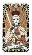 King of Swords Tarot card in Magic Manga Tarot deck