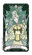 Ten of Coins Tarot card in Magic Manga deck