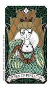 Queen of Coins Tarot card in Magic Manga deck