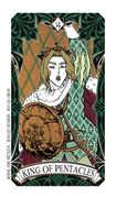 King of Coins Tarot card in Magic Manga deck