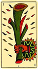 marseilles - Ace of Wands