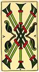 marseilles - Five of Wands