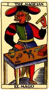 The Magician Tarot Card - Marseilles Tarot Deck