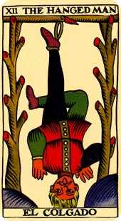 The Hanged Man Tarot Card - Marseilles Tarot Deck