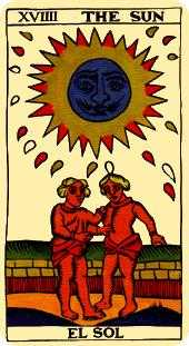 The Sun Tarot Card - Marseilles Tarot Deck
