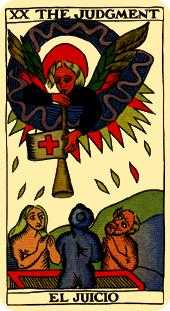 Judgment Tarot Card - Marseilles Tarot Deck