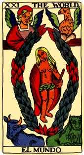 The World Tarot Card - Marseilles Tarot Deck
