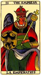 The Empress Tarot Card - Marseilles Tarot Deck