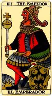 The Emperor Tarot Card - Marseilles Tarot Deck