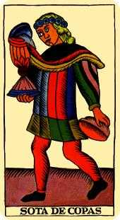 Slave of Cups Tarot Card - Marseilles Tarot Deck
