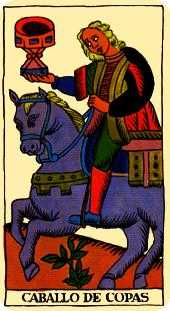 Knight of Water Tarot Card - Marseilles Tarot Deck