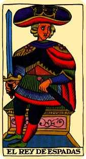 King of Swords Tarot Card - Marseilles Tarot Deck