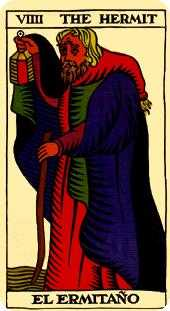 The Hermit Tarot Card - Marseilles Tarot Deck