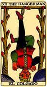 The Hanged Man Tarot card in Marseilles Tarot deck
