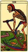 Death Tarot card in Marseilles deck