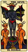 The Devil Tarot card in Marseilles deck