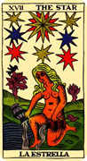 The Star Tarot card in Marseilles Tarot deck