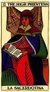 The High Priestess Tarot card in Marseilles Tarot deck