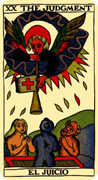 Judgement Tarot card in Marseilles Tarot deck