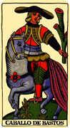 Knight of Wands Tarot card in Marseilles deck