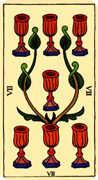 Seven of Cups Tarot card in Marseilles Tarot deck