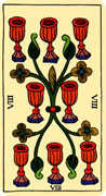 Eight of Cups Tarot card in Marseilles deck