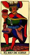 King of Cups Tarot card in Marseilles Tarot deck