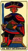 King of Swords Tarot card in Marseilles Tarot deck