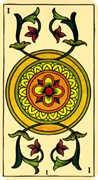 Ace of Coins Tarot card in Marseilles Tarot deck