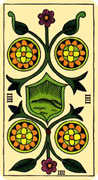 Four of Coins Tarot card in Marseilles Tarot deck