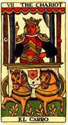 The Chariot Tarot card in Marseilles Tarot deck