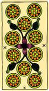 Ten of Coins Tarot card in Marseilles Tarot deck