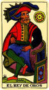King of Coins Tarot card in Marseilles Tarot deck
