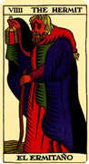 The Hermit Tarot card in Marseilles deck