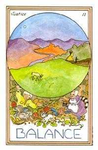 Justice Tarot Card - Medicine Woman Tarot Deck