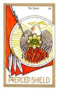 The Falling Tower Tarot Card - Medicine Woman Tarot Deck