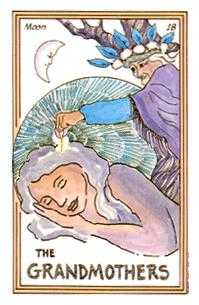 The Moon Tarot Card - Medicine Woman Tarot Deck