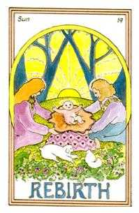 The Sun Tarot Card - Medicine Woman Tarot Deck