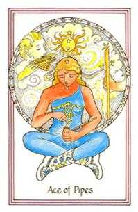 Ace of Rods Tarot Card - Medicine Woman Tarot Deck