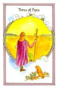 Three of Wands Tarot Card - Medicine Woman Tarot Deck