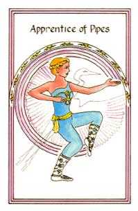 Valet of Batons Tarot Card - Medicine Woman Tarot Deck