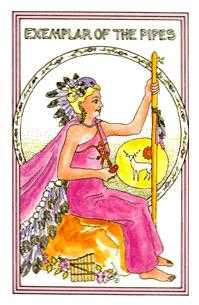 Exemplar of Pipes Tarot Card - Medicine Woman Tarot Deck